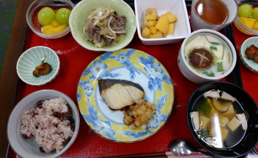 敬老の日のご飯